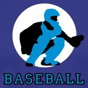 baseball_d_catcher_3c T-skjorter - Premium T-skjorte for menn