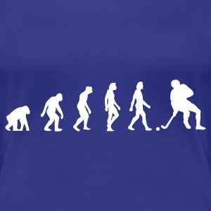 Aqua Hockey Evolution 1 (1c) Women's T-Shirts - Women's Premium T-Shirt