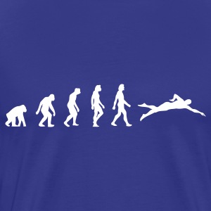 Divablauw Swimming Evolution 1 (1c) T-shirts - Mannen Premium T-shirt