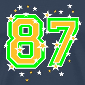 Dark navy The number eight, and stars Men's T-Shirts - Men's Premium T-Shirt