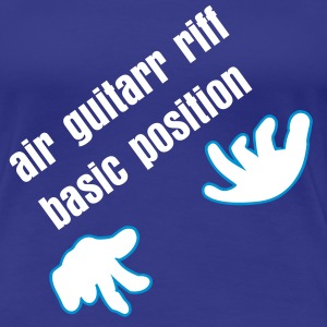 Türkis Luftgitarre / air guitar (2c) T-Shirts - Frauen Premium T-Shirt