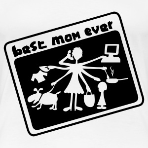 Weiß Multitasking Mom T-Shirts - Frauen Premium T-Shirt