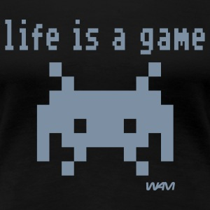 Svart life is a game by wam T-skjorter - Premium T-skjorte for kvinner