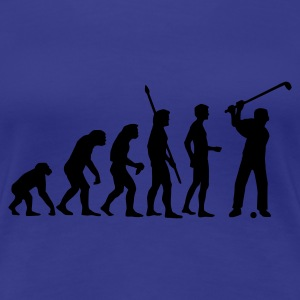 Aqua evolution_golf_c_1c Women's T-Shirts - Women's Premium T-Shirt