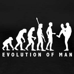 Schwarz evolution_baseball_pitcher_1c T-Shirts - Frauen Premium T-Shirt