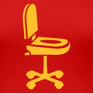 Rood Nerd gemak bureaustoel / convenience office chair (1c) T-shirts - Vrouwen Premium T-shirt