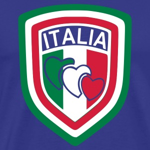 Royal blue scudetto_italia1 Men's T-Shirts - Men's Premium T-Shirt