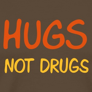 Brown hugs not drugs Men's T-Shirts - Maglietta Premium da uomo
