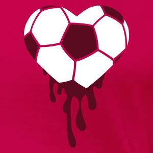 Rose Bleeding Heart pour le football T-shirts - T-shirt Premium Femme