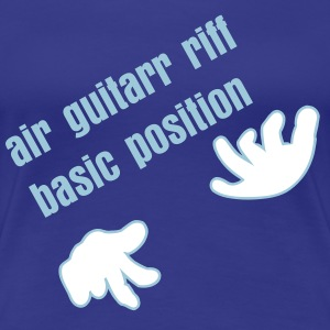Königsblau Luftgitarre / air guitar (2c) T-Shirts - Frauen Premium T-Shirt