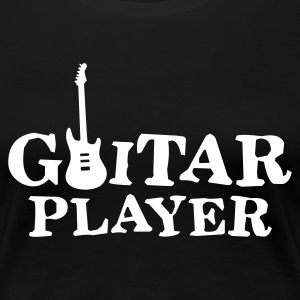 Black guitar_player_a_1c Women's T-Shirts - Women's Premium T-Shirt