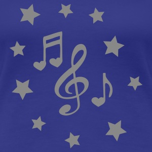 Royal blue heart_music_stars Women's T-Shirts - Women's Premium T-Shirt