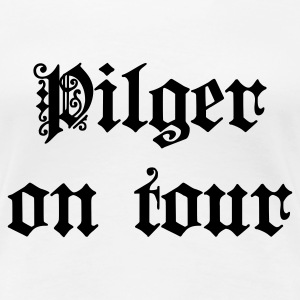 Weiß Pilger on Tour T-Shirts - Frauen Premium T-Shirt