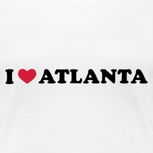 Weiß I Love Atlanta T-Shirts - Frauen Premium T-Shirt