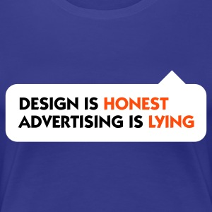 Aqua Design is Honest Advertising is Lying 1 (3c) Women's T-Shirts - Women's Premium T-Shirt
