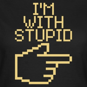 Oliv I'm with stupid T-shirts - T-shirt dam