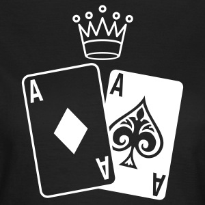 Oliven Poker Cards T-shirts - Dame-T-shirt