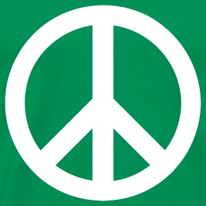 Kelly green peace sign Men's T-Shirts - Men's Premium T-Shirt