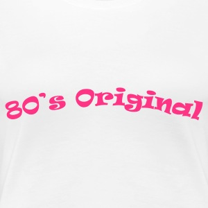 White 80s_original Women's Tees - Women's Premium T-Shirt