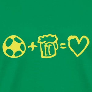 football+beer=love - Men's Premium T-Shirt