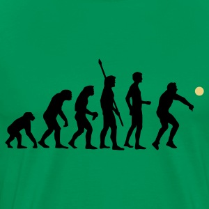 Kelly green evolution_volleyball_b_2c Men's T-Shirts - Men's Premium T-Shirt