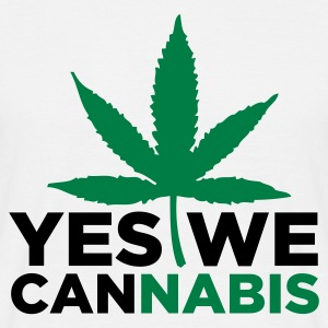 Sandbeige Yes we Cannabis 3 (2c) T-shirts - Herre-T-shirt