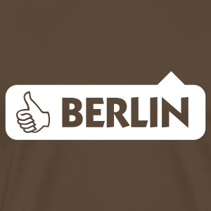 Gråbrun Berlin Thumbs Up (1c) T-shirts - Herre premium T-shirt