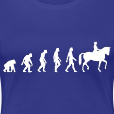 Divablauw Horse Riding Evolution 1 (1c) T-shirts