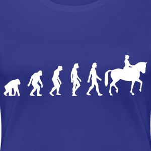 Divablauw Horse Riding Evolution 1 (1c) T-shirts - Vrouwen Premium T-shirt