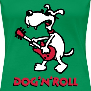 dog_n_roll_a_3c T-Shirts - Women's Premium T-Shirt