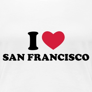 Weiß I love San Francisco T-Shirts - Frauen Premium T-Shirt