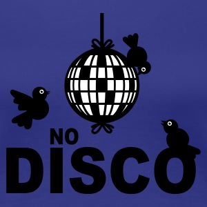 Turkis No Disco - 2 colors T-shirts - Dame premium T-shirt