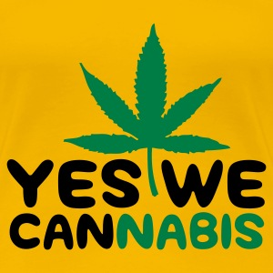 Gelb Yes we Cannabis 4 (2c) T-Shirts - Frauen Premium T-Shirt