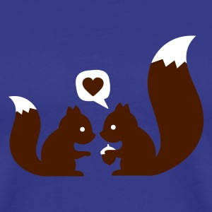 Sky squirrels in love - to give each other T-Shirts - Männer Premium T-Shirt