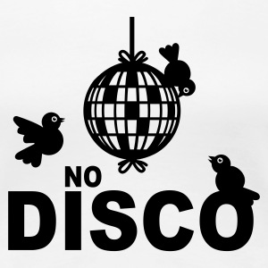 Wit No Disco T-shirts - Vrouwen Premium T-shirt
