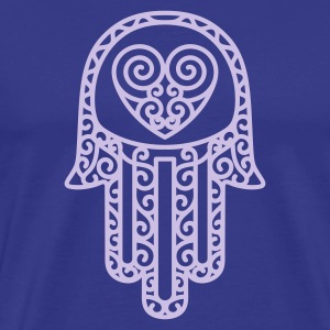 Royal blue Hand of Fatima Men's T-Shirts - Men's Premium T-Shirt