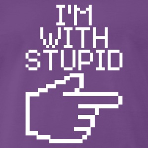 Indigo I'm with stupid Men's T-Shirts - Men's Premium T-Shirt