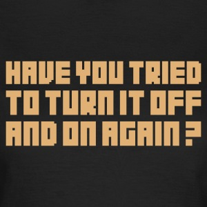 Olijfgroen Turn it off and on again T-shirts - Vrouwen T-shirt