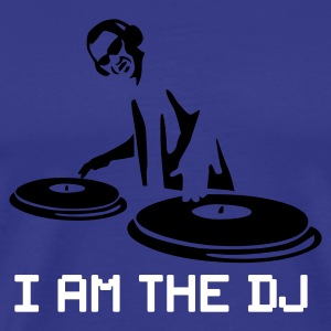Royal blue i_am_the_dj_2c Men's T-Shirts - Men's Premium T-Shirt