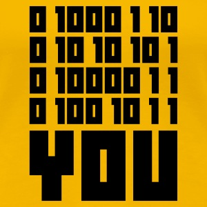 Yellow FUCK YOU - Binary code Women's T-Shirts - Women's Premium T-Shirt
