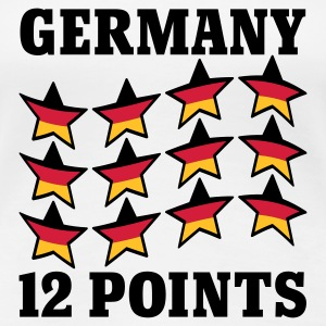 Weiß Germany 12 Points © T-Shirts - Premium T-skjorte for kvinner