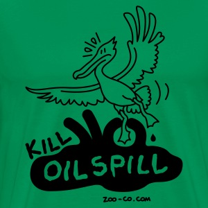 Moss green Kill Oil Spill Men's T-Shirts - Men's Premium T-Shirt