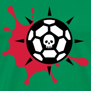 Khaki grün Football Blood Skull © T-Shirts - Premium T-skjorte for menn