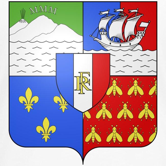 Les armoiries de la Réunion (version femme)