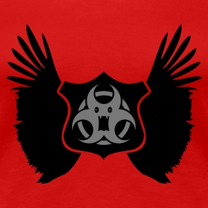 Rood winged Biohazard Monster Emblem (2c) T-shirts - Vrouwen Premium T-shirt