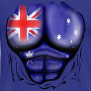 Australia Flag Ripped Muscles, six pack, chest t-s - Men's Premium T-Shirt