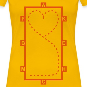 Jaune Dressage Riding heart - Dressage Equitation coeur T-shirts - T-shirt Premium Femme
