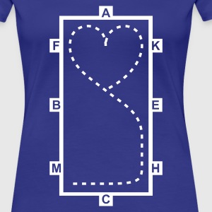 Bleu  Dressage Riding heart - Dressage Equitation coeur T-shirts - T-shirt Premium Femme