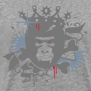 Ash King Kong - gorilla with a crown Men's T-Shirts - Men's Premium T-Shirt
