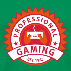 Vert mousse prof_gaming_1 T-shirts - T-shirt Premium Homme